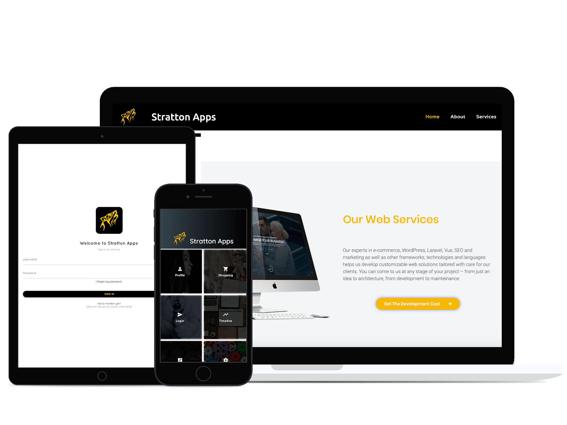 Stratton Apps, mobile & web app solutions