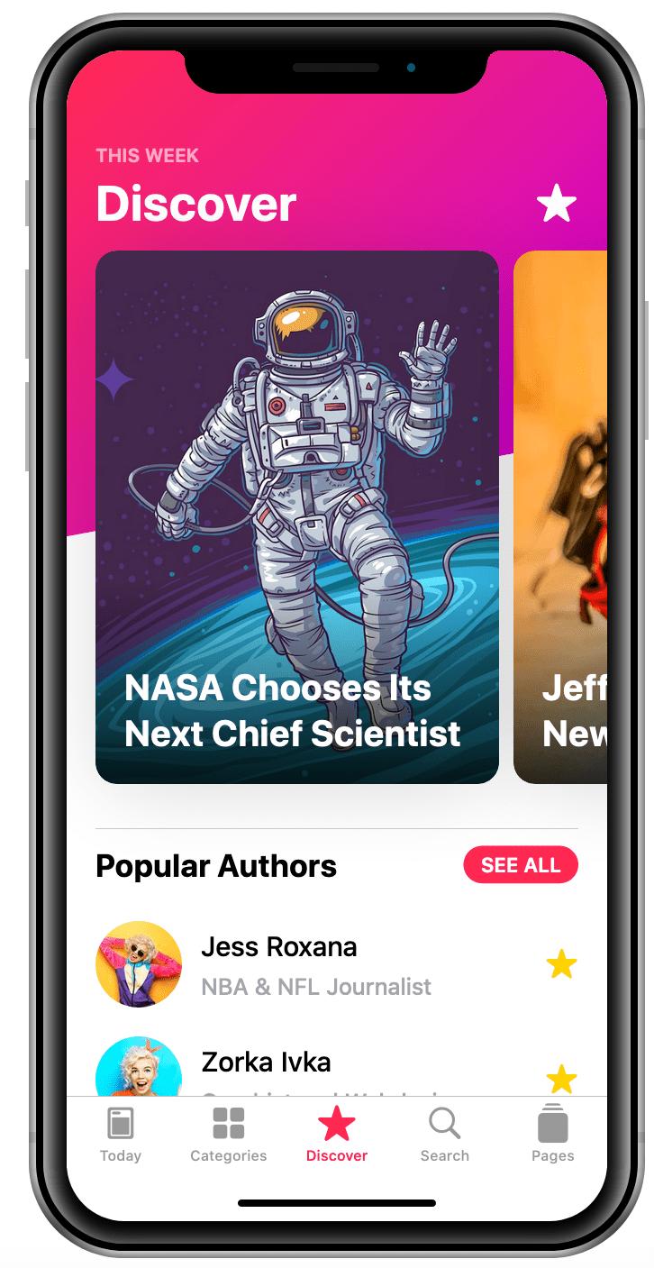 Discover menu news mobile app stratton apps