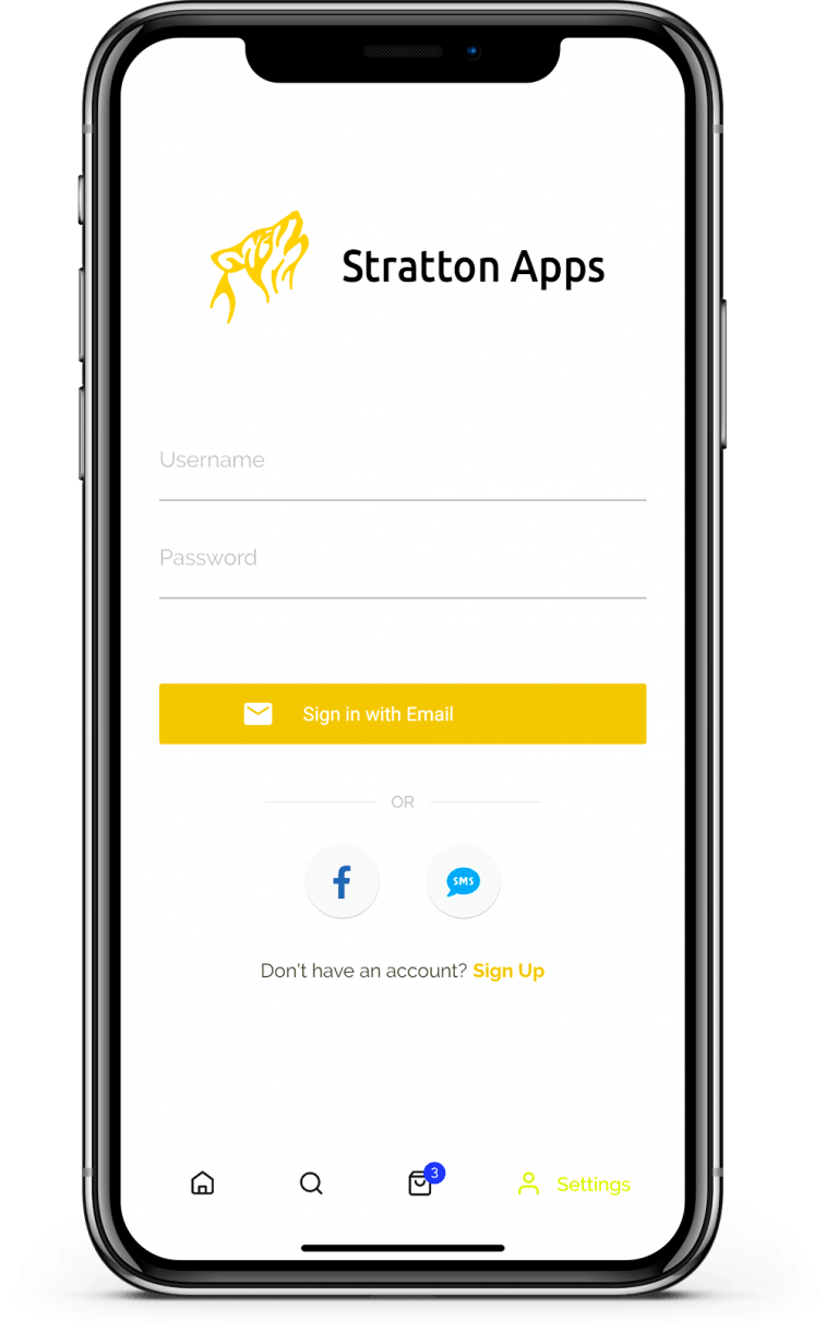 Login example Stratton Apps project