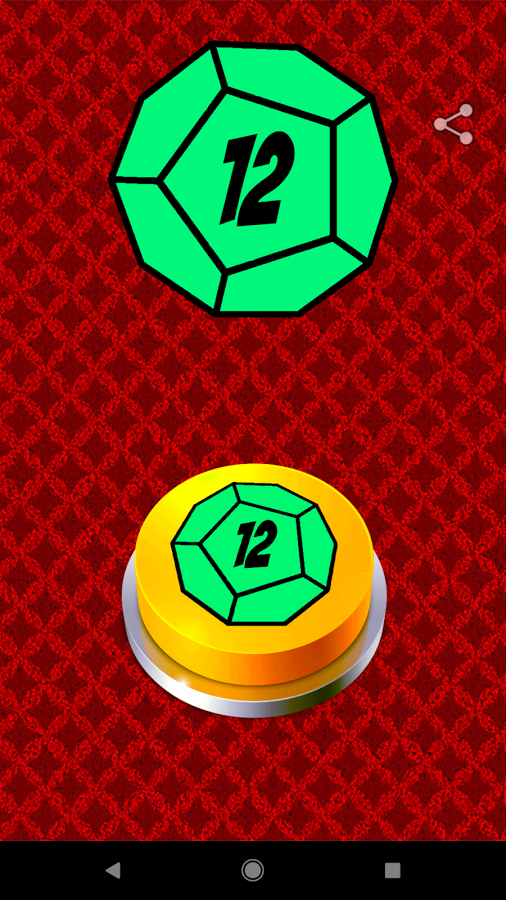 Dodecahedron Dice Button
